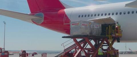 La carga aérea crece a un ritmo del 14% en octubre en los aeropuertos españoles